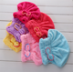 China supplier color customized dry coral fleece turbine twist hair weave salon wrap towel cap