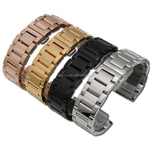 Cheap Hot Selling Classic Three Links Watch Strap 304 Stainless Steel Watch Band