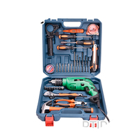 POWERTEC 26pcs accessories 620W impact drill set with various hand tools for repair