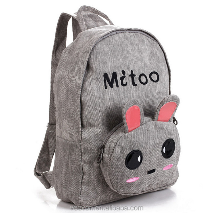 Cute rabbit school backpack for kids back to school bags