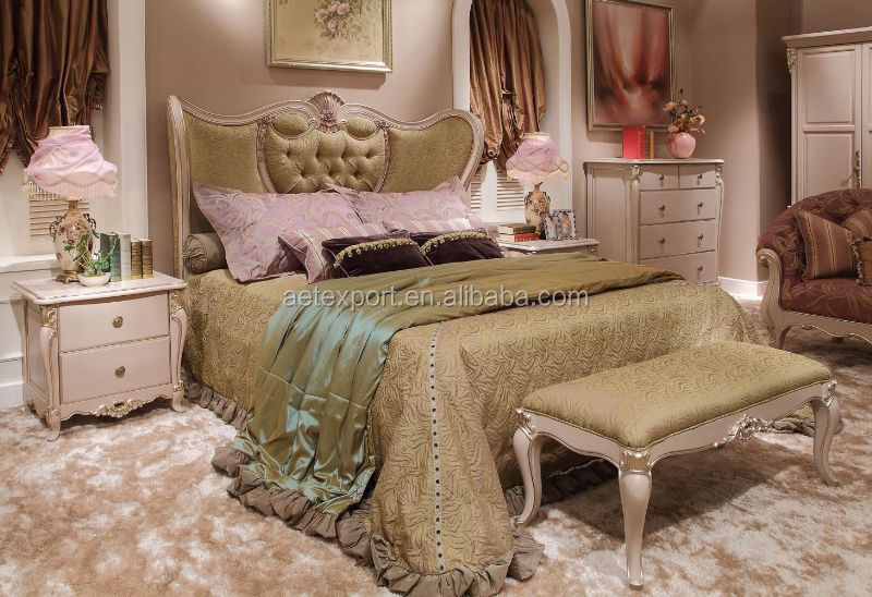 New french rococo style purple bedroom furniture set wood high back full  leather bed. New French Rococo Style Purple Bedroom Furniture Set Wood High
