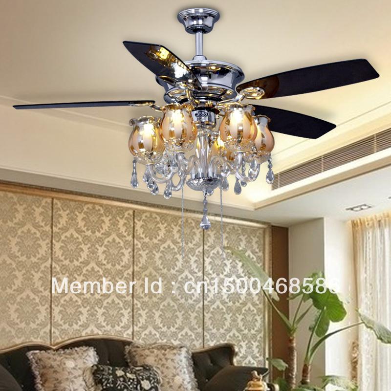 European Chandeliers Fan Ceiling Fan Light Minimalist