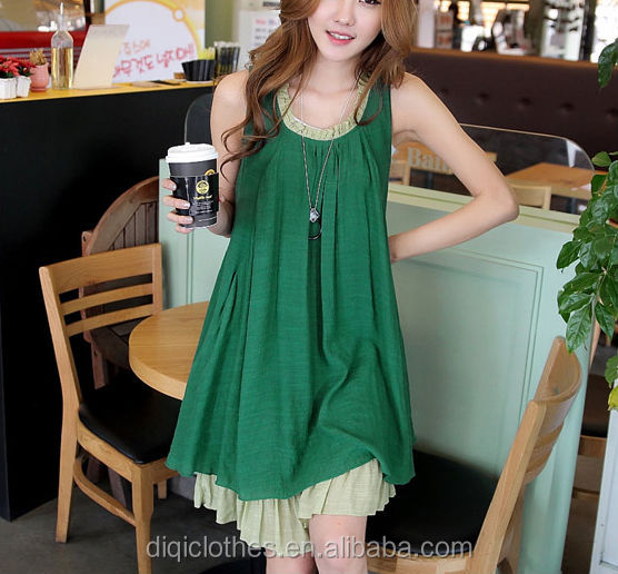 New Summer Wear Women's Clothing Loose Ruffled Dress Sleeveless Stylish Sweet Korea Clothes Supplier Clothing Manufacturers