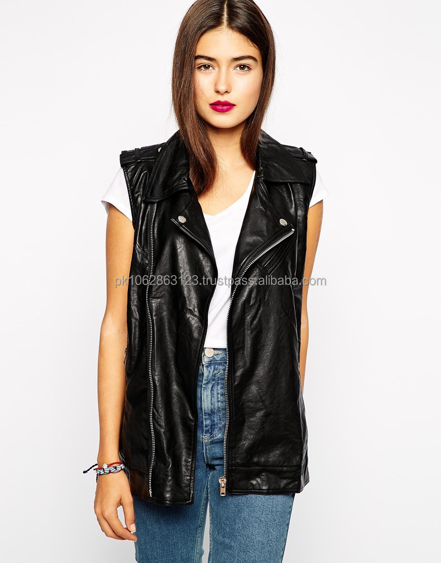 2014 winter new European style fashion handsome Slim thin PU leather women leather jacket