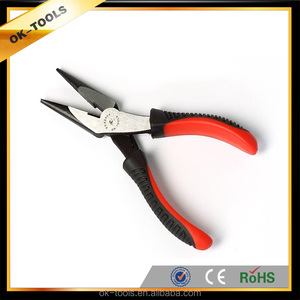 ok-tools 2014 new double colores long nose plier with massage rein