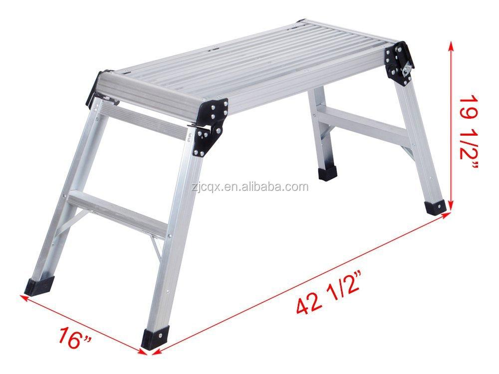 Piattaforma in alluminio muro a secco intensificare banco di lavoro