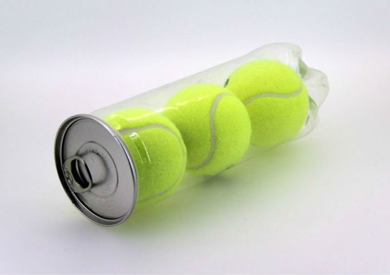 plastic can packaging for Tennis ball