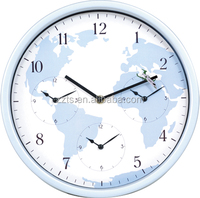 12 inch modern world time wall clock