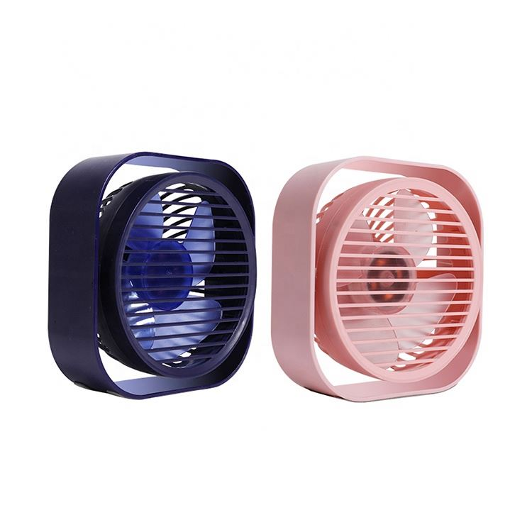 2019 Pink Blue Leafless Cold Wind Portable Desk Fan