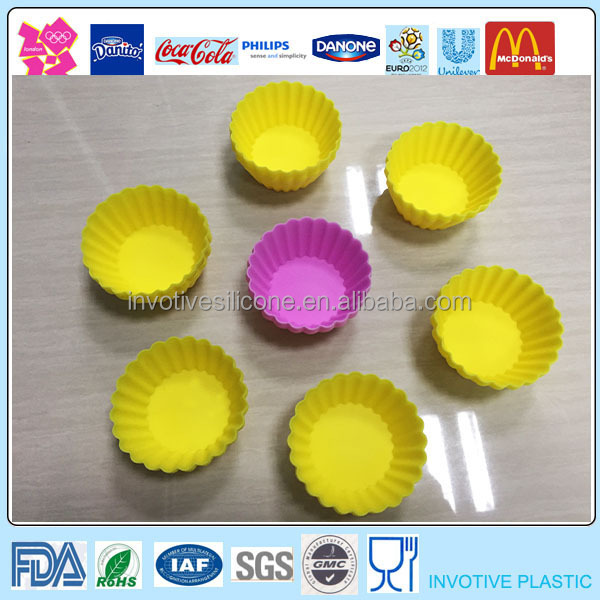 Heat Protective Mini Silicone Cake Baking Mould,Muffin Cups