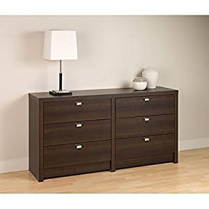 "Dresser / Dressers and Chests, Valhalla Designer Series Espresso Finish 6-Drawer Dresser E-0560-VAL (29.75"" H x 58.5"" W x 15.25"" D)"