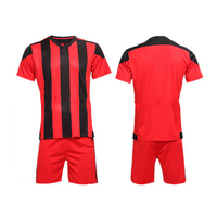 Made in china stripe mens football uniform