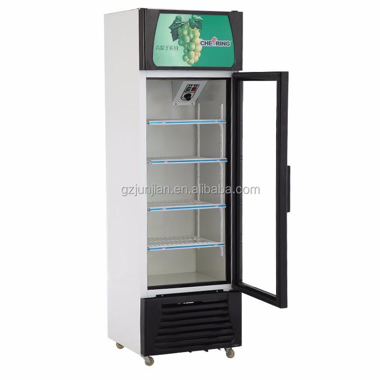 Commercial Beverage Cooler Glass 1 Door Refrigerated
