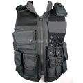 New Arrival Tactical Police Vest Outdoor Hunting CS War Game Protective Vest Combat Uniform Black