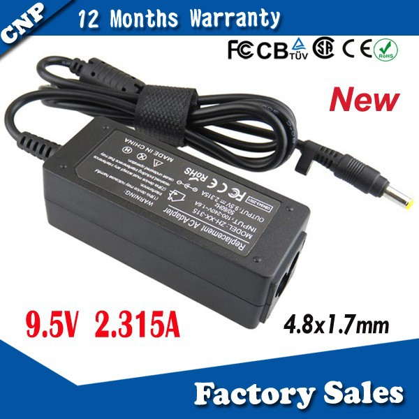 New AC Adapter for Asus Eee PC Netbook Mini Laptop Charger Power Supply Battery Charger for Asus 9.5V 2.315A 4.8x1.7mm