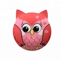 Baby eating dinnerware, pink owl design melamine kids dinner set