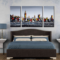 Exclusive Cityscape Modern Building Abstract Oil Painting