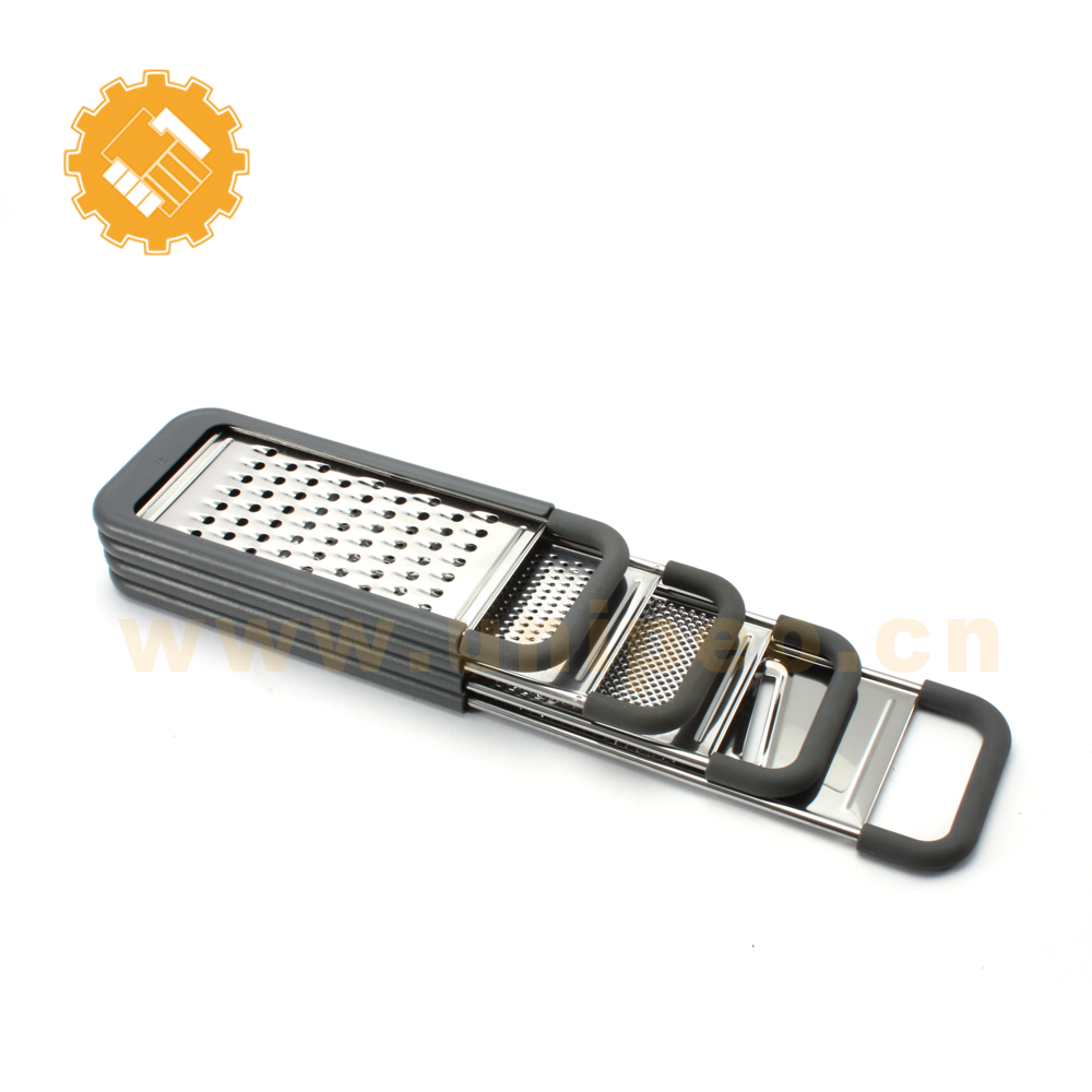 Amazing multi functional 5 in 1 hand held stainless steel kitchen grater for cheese fruit ginger vegetable