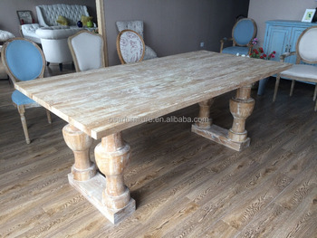 83124025e217d Vintage Furniture Distressed Oak Wood French Antique Dining Table ...