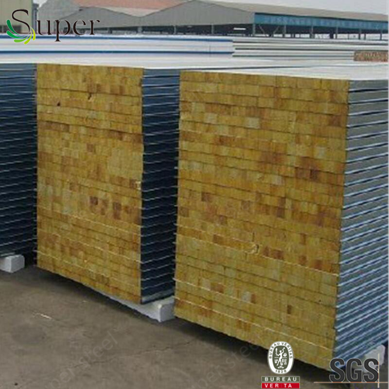 Prefabricated Houses Rockwool Roof Sandwich Panels