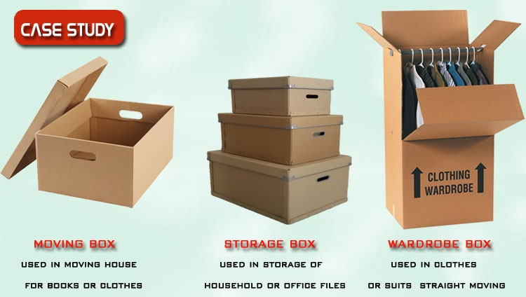 Wonderful Used Boxes For Moving House #7: Heavy Duty Rigid Brown Corrugated Moving Carton Boxes