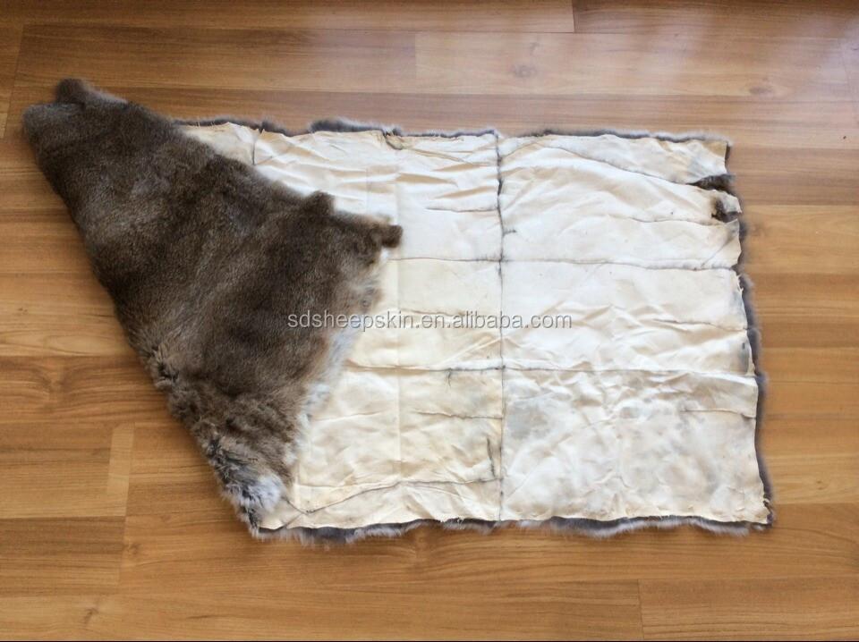 Rabbit Fur Rug Home Decor
