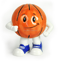 Ceramic basketball shape piggy money coin bank