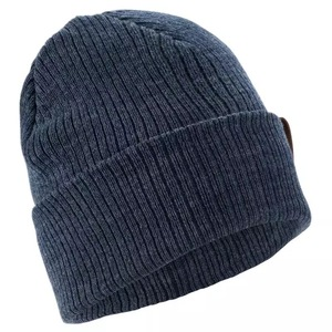 Wholesale men's merino wool knit beanie hat