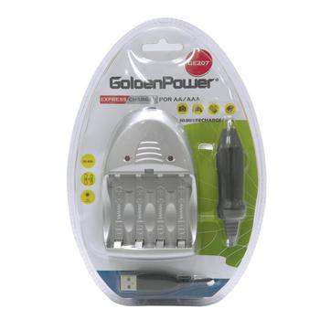 Golden Power Ni-MH Rechargeable Battery Charger 3 in 1 Express Charger