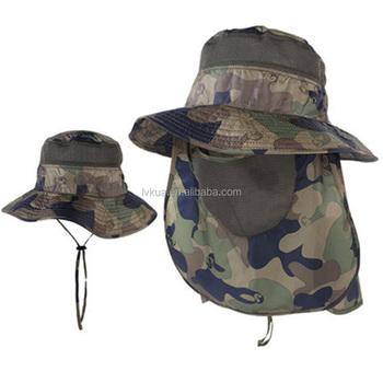 e278d6370f7 Summer Camo Bucket Hat Neck Flap Hat - Buy Camouflage Bucket ...