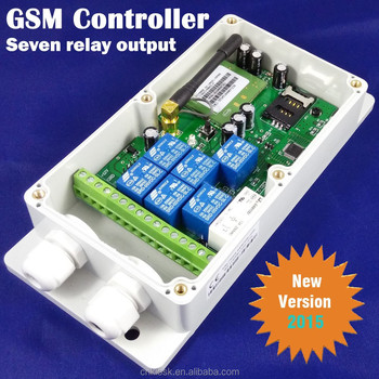 Gsm Sms Remote Control Relay Output Switch (quad Band,7 Relay Output) Pc  And App - Buy Gsm Remote Control,Gsm Remote Switch,Sms Remote Switch  Product