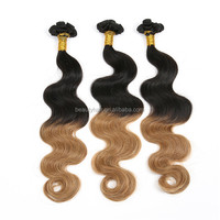 "2015 New Arrival Brazilian Virgin Hair , Top Quality 8""-34"" Body Wave Ombre T Color T1B/27 Brazilian Virgin Human Hair Extension"