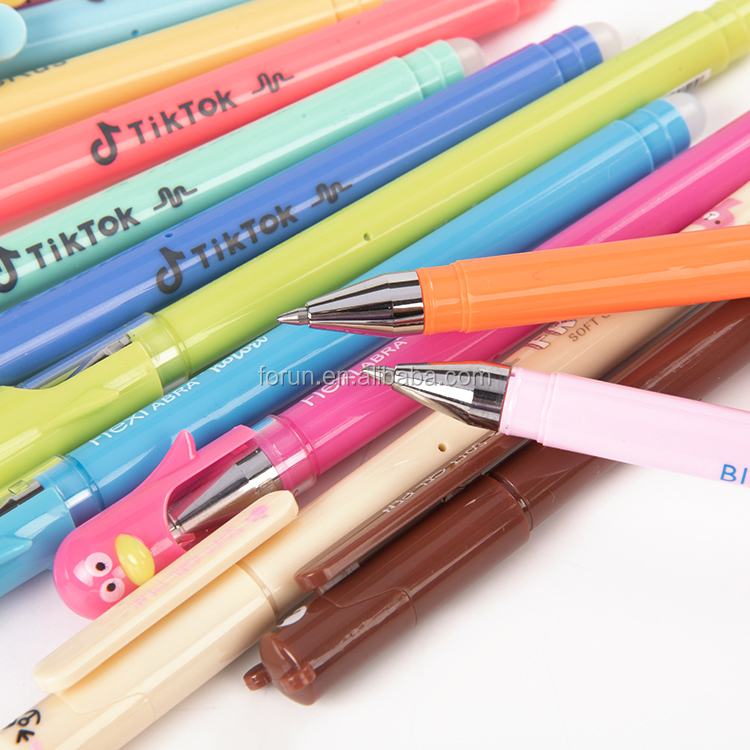 China Manufacturers Promotional Students Stationery Pen Eraser Neutral Pen