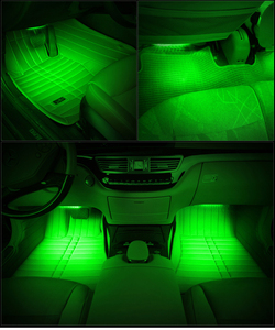 HTAUTO Universal 12V Car Internal Ambient Light Strip System/ Automotive Interior Atmosphere LED Light/ Vehicle Foot Light