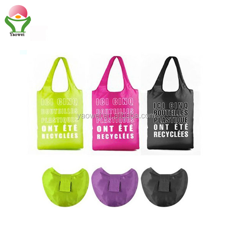 newest fashion promotional cheap folding shopping bag,polyester bag shopping bag, foldable shopping bag