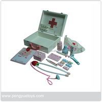 Wooden Doctor Tool Pretend Play set for preschoolers