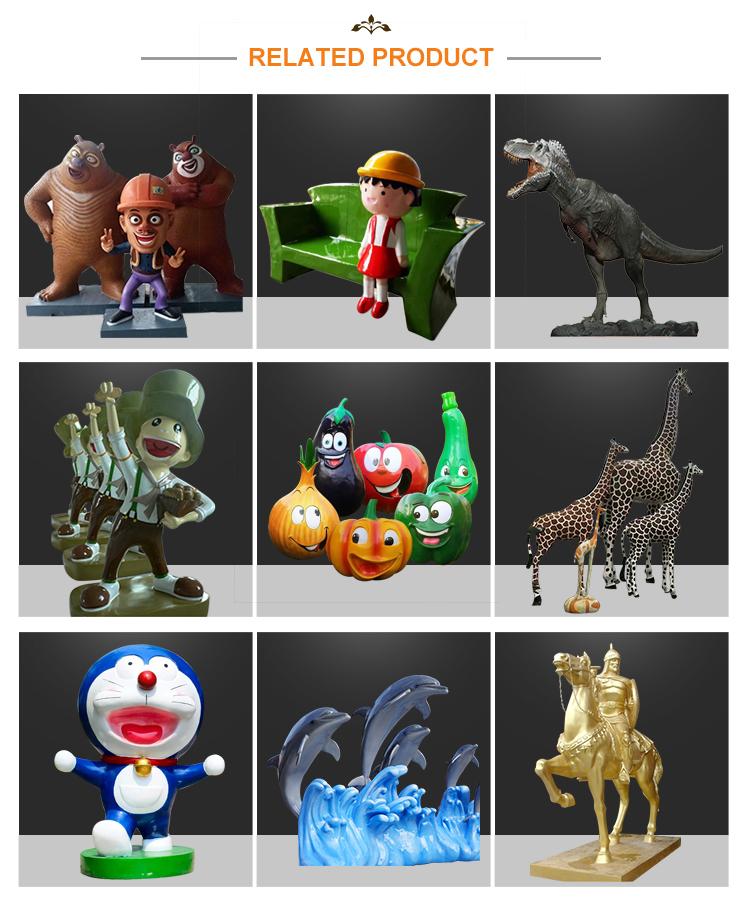 Resin figurine fiberglass sculpture cartoon character statue