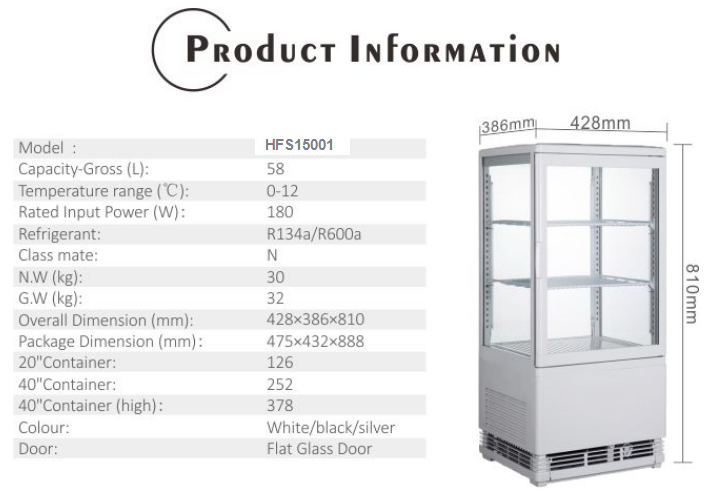 58L High Quality Pepsi Refrigerator with CE UL RoHS ETL