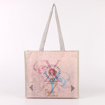 Wholesale custom laminated printed non woven polypropylene tote foldable gift shopping bag