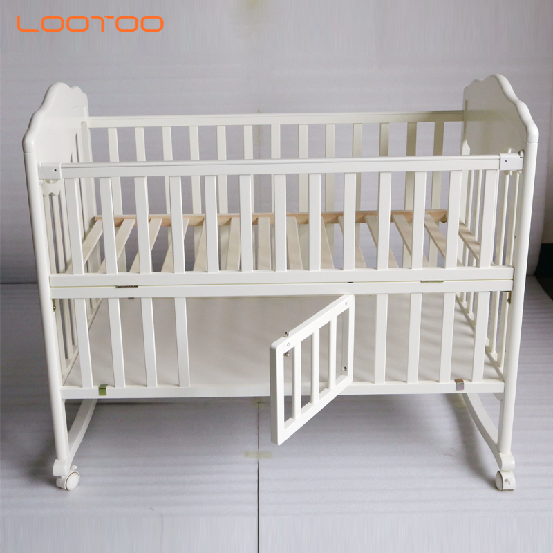 Natural furniture strong design infant toddler babies sleeping bed children / kid bed wood