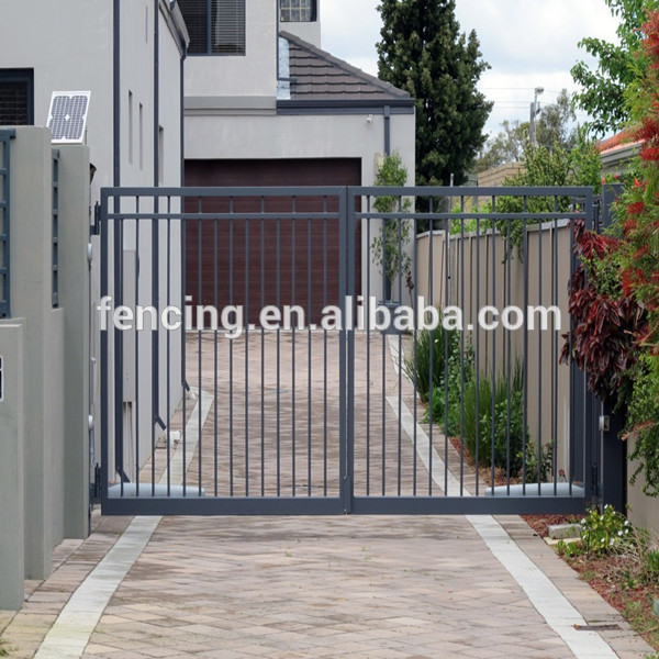 2017 Single leaf galvanized automatic opener swing gate with hinge