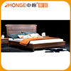 High Quality Chinese Solid Wood Double Bed Designs With Box