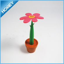 sunflower pen with stand, flowerpot ball pen