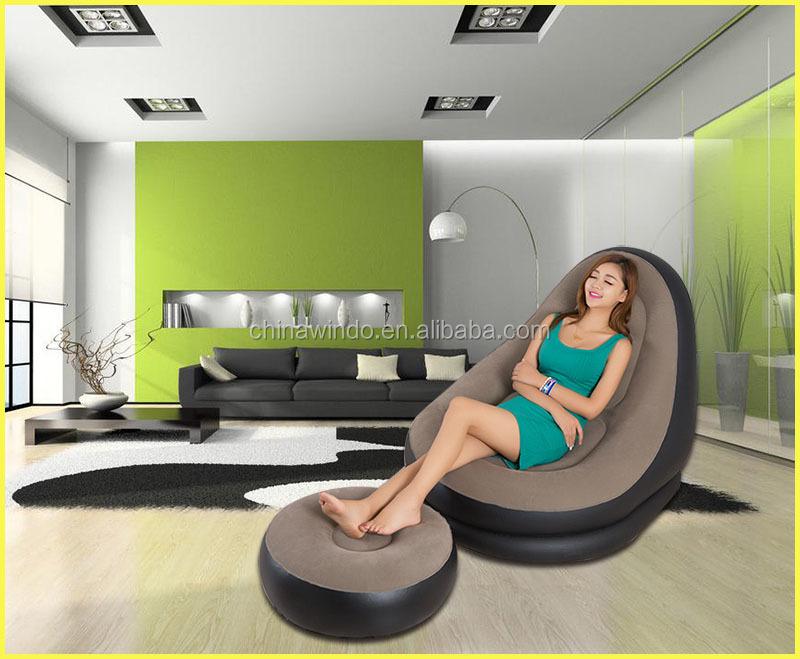 Nuevo diseño inflable acudieron sofá, inflable se reunió la cama de ...