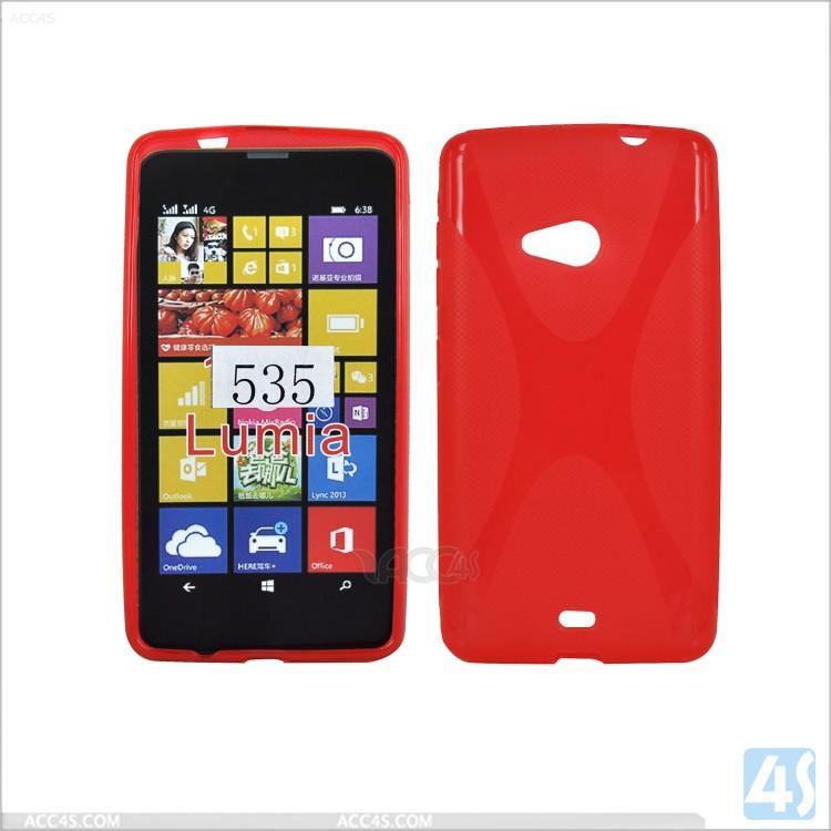 For Nokia Lumia 535 Cover,X Type Tpu Back Cover For Nokia Lumia ...