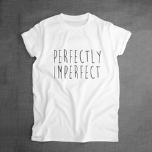 funny T shirt text printing logo customised perfectly imperfect