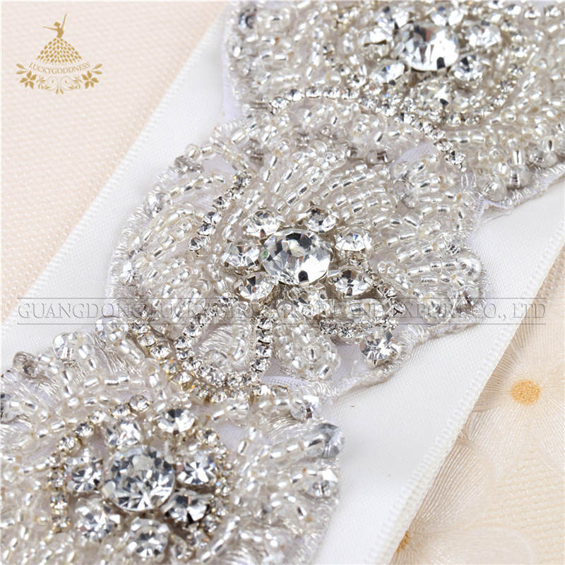 Wedding dress bridal fashion groothandel crystal rhinestone applique voor sash riem