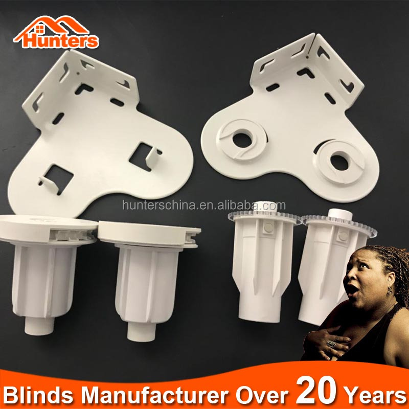 Manual operation plastic & Metal chain double roller blinds brackets
