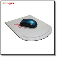 Customed pu leather mouse pad round mouse pad with wrist rest handmade pu luxury computer leather custom mouse pad