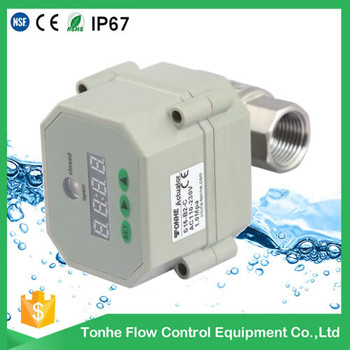 "1/2"" stainless steel electric ball valve automatic drain valve with timer"